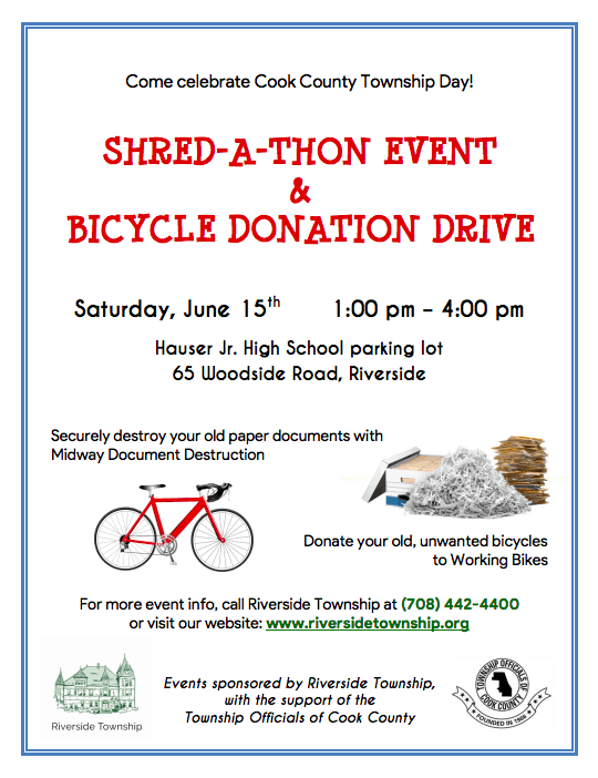 Shred-a-thon - Riverside Township of Illinois