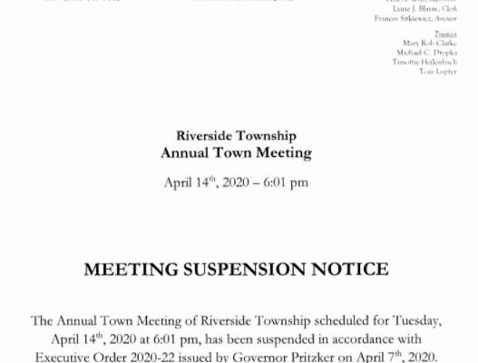 Meeting Suspension Notice