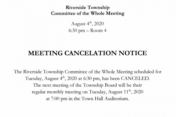 MEETING CANCELATION NOTICE