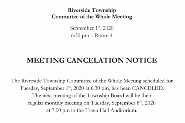 Meeting Cancellation Notice